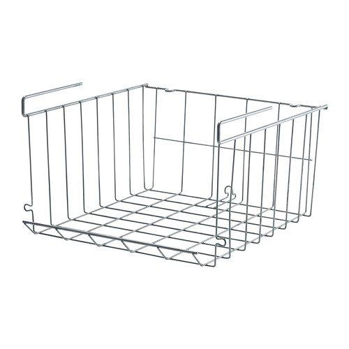 IKEA OBSERVATOR - Clip-on basket, silver-colour