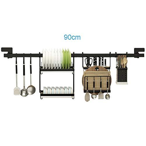 201 Edelstahl Küchengeschirrtrockner 2-Tier Breite 90 cm (35,4 Zoll) Wand- / Bodenmontage