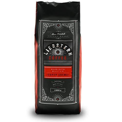NEU | LIEBSTERN COFFEE | Kaffeebohnen 1kg | SUPER CREMA | Kaffee mit wenig extra Säure| Beste Espressobohnen für Vollautomaten| Mittlere Röstung mit viel Aroma