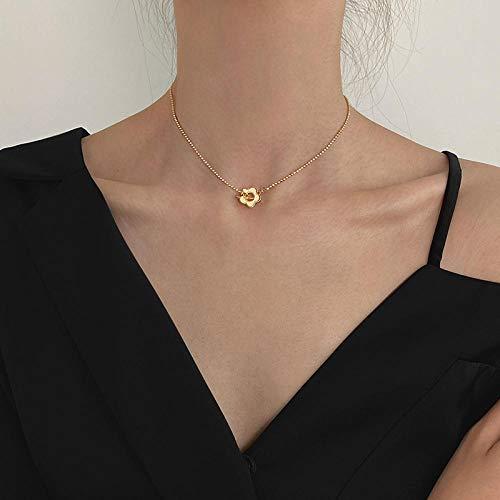 XCEG Halskette Shell Wing Halskette Weibliche Quaste Schlüsselbein Kette Halskette Schmuck-Real Vergoldung