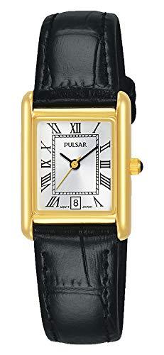 Pulsar Herren Analog Quarz Uhr mit Leder Armband PH7484X1