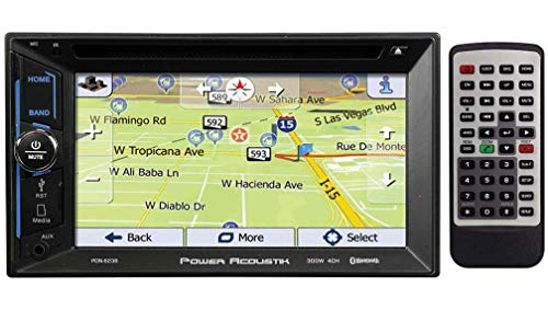 "Power Acoustik PDN-623B 6.2"" CD DVD GPS Bluetooth USB AUX Navigation 300W Radio"
