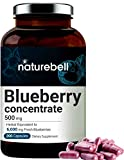 Blueberry Capsules, Whole Fruit Blueberry Concentrate, 6000mg Herbal Equivalent, 200 Capsu...