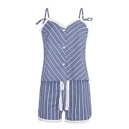 Sexy Sling Summer Print Sling Pijamas Traje De Servicio A Domicilio De Dos Piezas