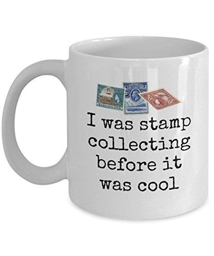 Briefmarkensammler Geschenk Briefmarken-Sammeltasse Philatelist Geschenk Stempel Sammeln Before It Was Cool