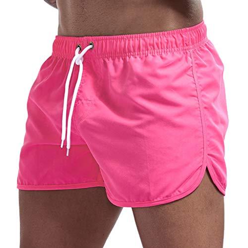 Homme Shorts Maillot de Bain, Bluestercool Short de Bain Homme Pant Court de Sport Séchage Rapide Plage Beach Trunks Pantalon Boxers Slip avec Cordon Ajustable