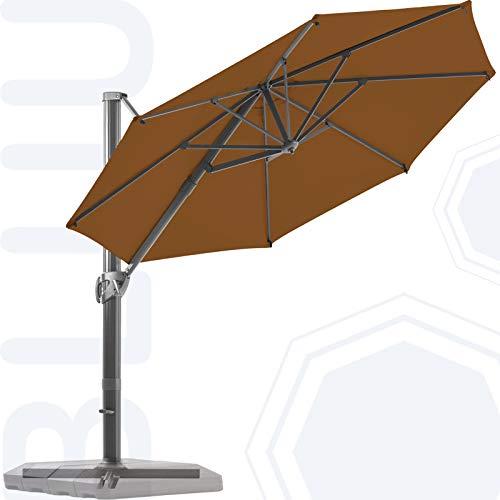 BLUU Redwood 11 FT Patio Umbrella Offset Cantilever...