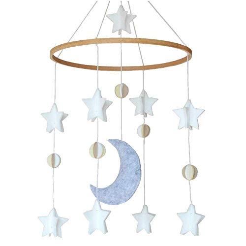 LIUCHANG Crib Mobile Stars und Mond Baby Windspiele, abnehmbare Krippe können for Krippen for Jungen und Mädchen verwendet Werden liuchang20