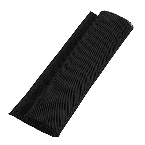 Mugast luidspreker Bespanningsstof, Hi-Fi Bespanningsstof 1,4 m x 0,5 m stofdicht luidspreker grill reinigingsdoek, chemische vezel akoestische stof stereo luidspreker mesh grill doek 3 kleuren, zwart
