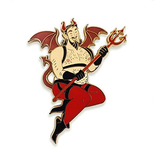Pinsanity Devil Pin Up Boy Enamel Lapel Pin