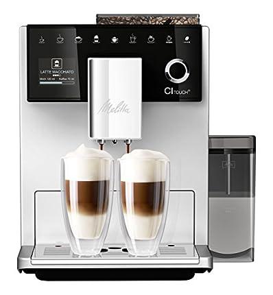 Melitta F630-101 Cafetera automática, 1400 W, 1.8 litros, 63 Decibeles, Stainless Steel, 5 Velocidades, Plata