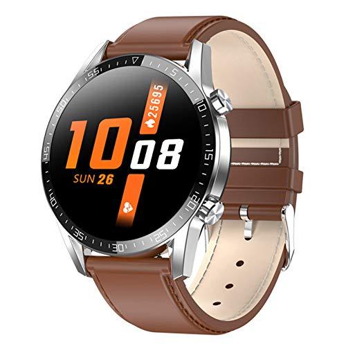 CZX Smartwatch Herren L13C Frauen-Smartwatch MTK2502 1.4 IPS Full Touch Screen-IP68 wasserdichte Puls-Monitor-Anti-verlorene Fitness Tracker,D