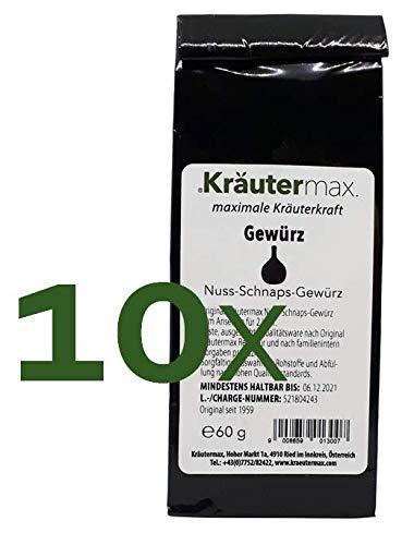 Nuss-Schnaps Gewürz 10 x 60 g für 20 Liter zum Selber Machen