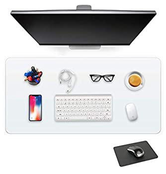 Clear Blotter Computer Laptop Plastic Vinyl Transparent Desk Mat Pad Non-Slip Blotter Easy Clean and Wipeable Table Cover Protector Waterproof Anti-Slip Desk Writing Pad Mouse Pad Include 16X24 Inch