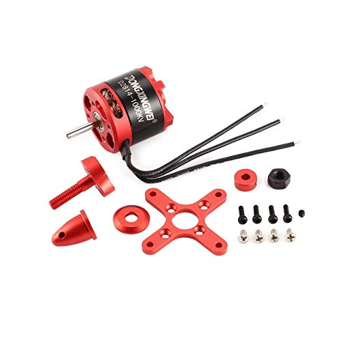 Lorenlli D2814 2814 1000 3KV 4-6S 12 mm Brushless Outrunner Motor for RC FPV Fixed wing Unmanned airplane 6xXNUMX propeller