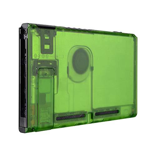 eXtremeRate Trasparente Verde Cover Console Posteriore DIY Custodia Scocca Case Ricambio per Nintendo Switch Console con Supporto-NON Include Console