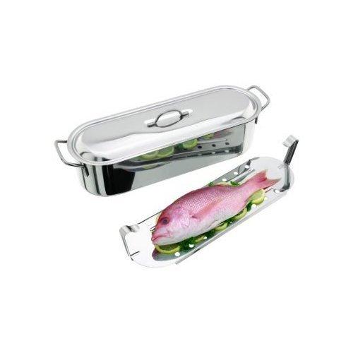 Horwood Homewares - Pentola per Pesce, in Acciaio Inox, 45 cm, 7,3L