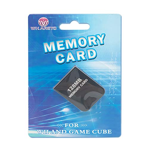 WiCareYo 128MB Black Memory Card für Wii NGC Gamecube Konsole