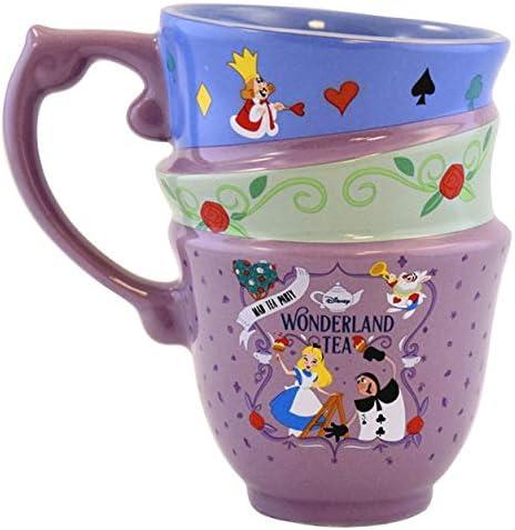 Disney Parks Alice in Wonderland Mad Tea Party Stacked Teacups 3D Sculpted Mug product image