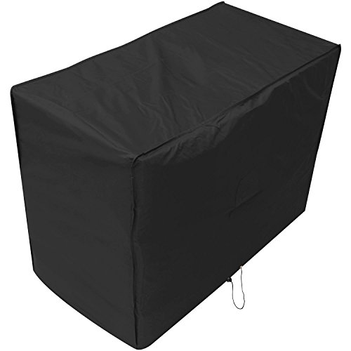 Woodside Black 2 Seater Waterproof Outdoor Garden Patio Bench Cover Heavy Duty 600D Material 0.9m x 1.34m x 0.68m/3ft x 4.4ft x 2.2ft 5 YEAR GUARANTEE
