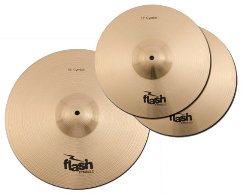 Flash Impact Series 36 Schlagzeug Becken Set (Drum Cymbals, 13