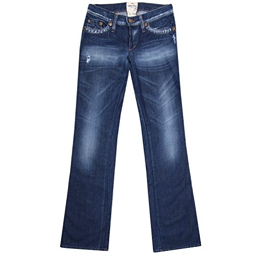 Take Two, View, Damen Jeans Mittelstarker Denim Blue Used Aged Destroyed W 26 L 36 [14792]