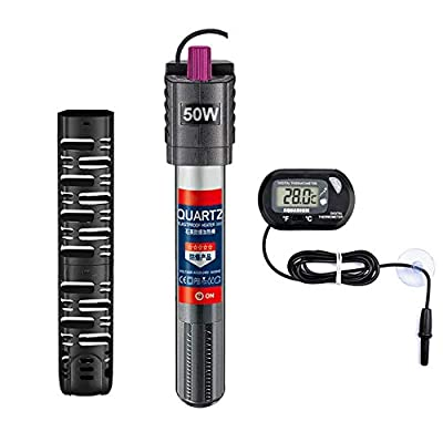 Sukeen Aquarium Heater Auto Thermostat Fish Tank Heater for 3-80 Gallons,Shatter-Proof and Blast-Proof,Adjustable Temperature and Extra Thermometer-50W