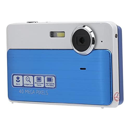 Gaeirt Fotocamera Digitale con Zoom 16x, Mini Videocamera da 40 MP 1080P Fotocamera Tascabile 4P con Obiettivo a Messa a Fuoco Fissa Fotocamera USB Ricaricabile(Blu)