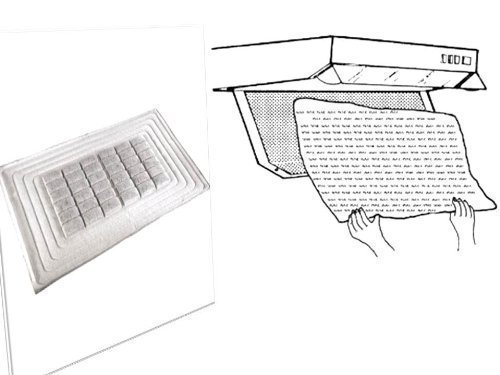 Dunstabzug-Hochleistungs-Aktivkohlefilter + Dunstabzug-Flachfilter, 6er-Set