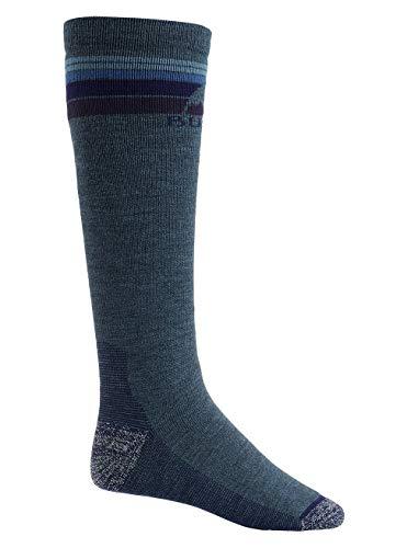 Burton Emblem Midweight Calcetines de Snowboard, Hombre, Azul (Indigo Heather), L