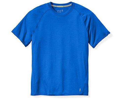 Smartwool Men's Short Sleeve Shirt - Merino 150 Wool Baselayer Performance Top Bright Blue - Past Season X-Large