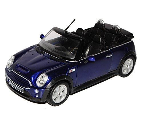 Welly Mini Cooper Cabrio Blau R52 2004-2008 1/24 Modell Auto mit individiuellem Wunschkennzeichen