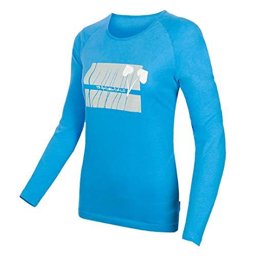 Trangoworld Crep Tricot Femme, Bleu, M