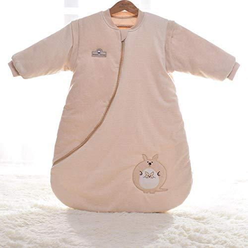 QFYD FDEYL Saco de Dormir para bebé de Invierno,Saco de Dormir Anti-Salto para bebés-C-007 Canguro_90 Yardas, Bolsa de Dormir de Bebé de Mangas Largas