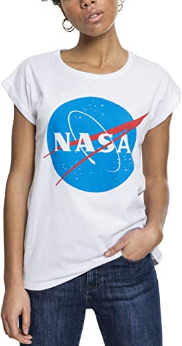 Mister Tee Ladies NASA Insignia tee Camiseta, Blanco, Medium para Mujer