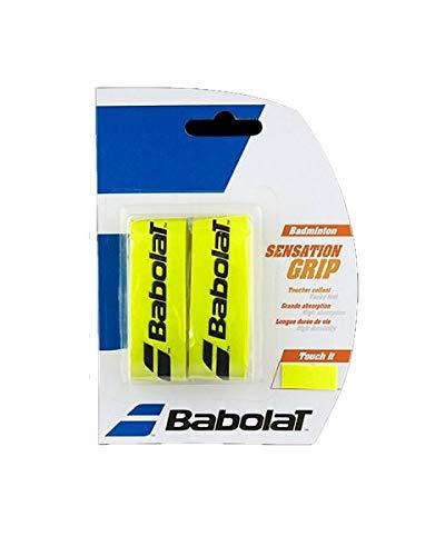 Babolat Badminton Basis Griffband Sensation 2er Packung in verschiedenen tollen Farben (gelb)