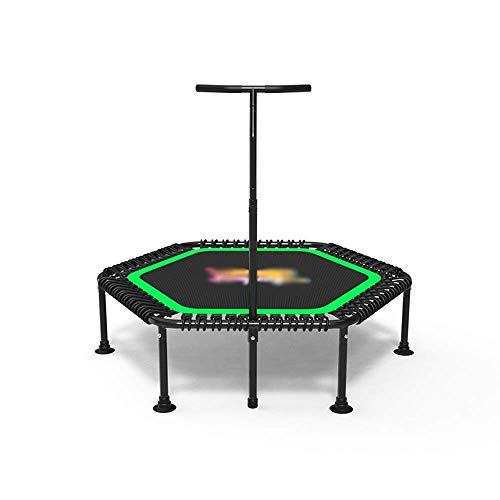 Rebounder Trampolines Home Yoga Trampoline Adult Gym Children Indoor Leisure Bouncing Bed Weight Loss Exercise Jumping Bed with Armrests 3 Files Adjustable Load-bearing 250kg Fitness Exercise Equipmen