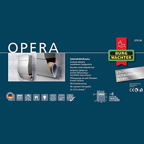 BURG WÄCHTER Opera 3755 Ni Edelstahlbriefkasten - 6