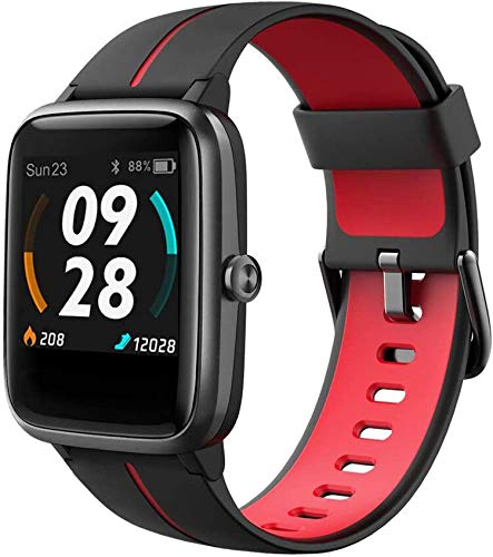 Smart Watch Fitness Tracker with Heart Rate Monitor,GPS Running Watch,1.3 Inch Color Touch Screen Activity Tracker, Step Calorie Counter Sleep Tracker, IP68 Waterproof Fitness Pedometer for Women Men