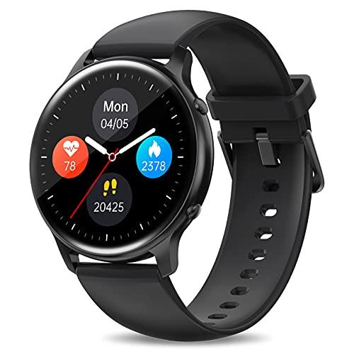 Smartwatch Uomo, Orologio Fitness Tracker 5ATM Impermeabile, HOTMIFIT Y01 Smart Watch, con GPS Contapassi, Cardiofrequenzimetro, Notifiche Messaggi, Bluetooth Activity Tracker per Android ios