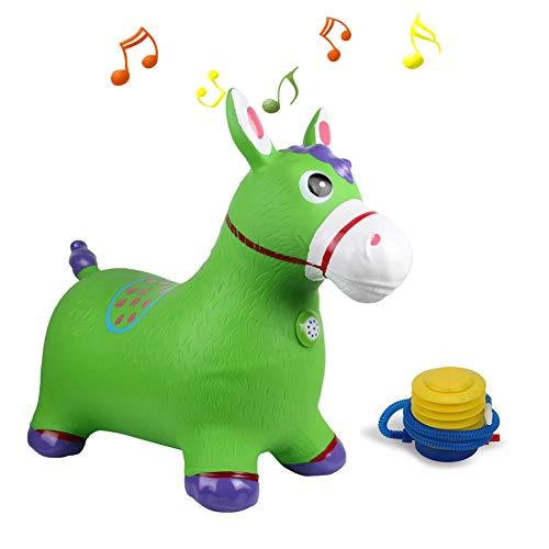 YLZT Baby-Prahler-Stuhl-aufblasbarer Sprung-Schlag-Raum-Pferdebehälter-Tierfahrt auf Spielzeug mit der Pumpe eingeschlossen Sichere PVC-Gummikonstruktion