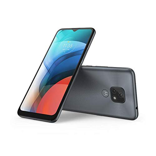 Moto E7, Gris Mineral, Smartphone de 6.5', Android 10.0 P, Equipo Desbloqueado, Cámara Trasera 48MP + 2MP Macro + Cámara Frontal 5 MP, Single LED Flash, Procesador 8 Núcleos + 2 GB RAM