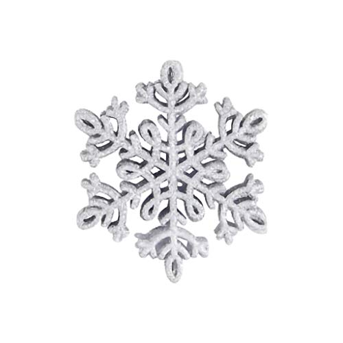 8Pcs Multicolor Snowflake Winter Snowflake Ornaments Christmas Hanging Decorations for Wedding Birthday Home Xmas Tree Window Door Accessories (G)