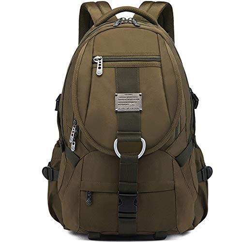 Rucksack für Reisen, wasserdicht, für Studenten, große Kapazität, mit Umhängetasche für den Außenbereich, Reisetasche aus Oxford-Gewebe in Europa und den USA Grün (Military Green)