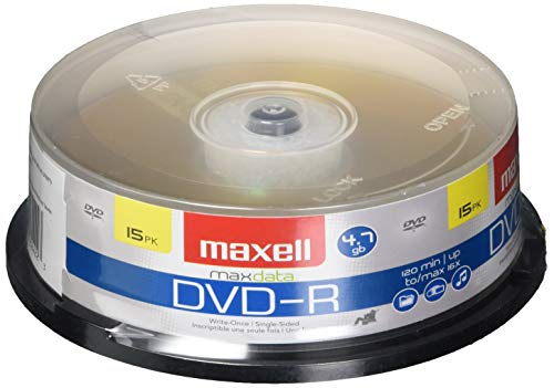 Maxell 638006 DVD-R 4.7 Gb Spindle with 2 Hour Recording