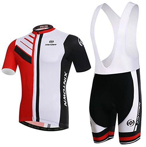 Baymate Homme Vêtements de Cyclisme Maillot de Cyclisme Manches Courtes + Cuissard A Bretelles