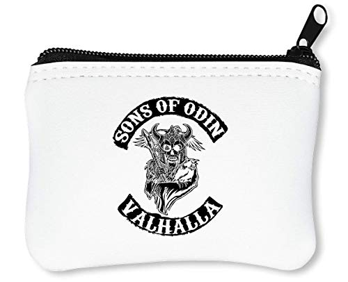 Sons of Odin Valhalla Chapter Billetera con Cremallera Monedero Caratera