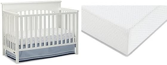 Graco Lauren Convertible Crib + Graco Premium Foam Crib and Toddler Bed Mattress, White