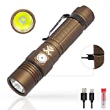 ThruNite TC15 Tan LED Torch Super Bright Torches Flashlight 2300 Lumens Rechargeable with IMR 18650 Battery...