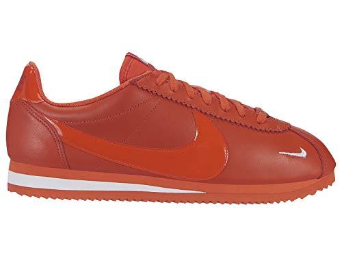 Nike Damen WMNS Classic Cortez Prem Leichtathletikschuhe, Mehrfarbig (Team Orange/Team Orange/White 802), 39 EU